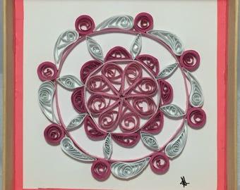 Sammie Pink Quilled Mandala