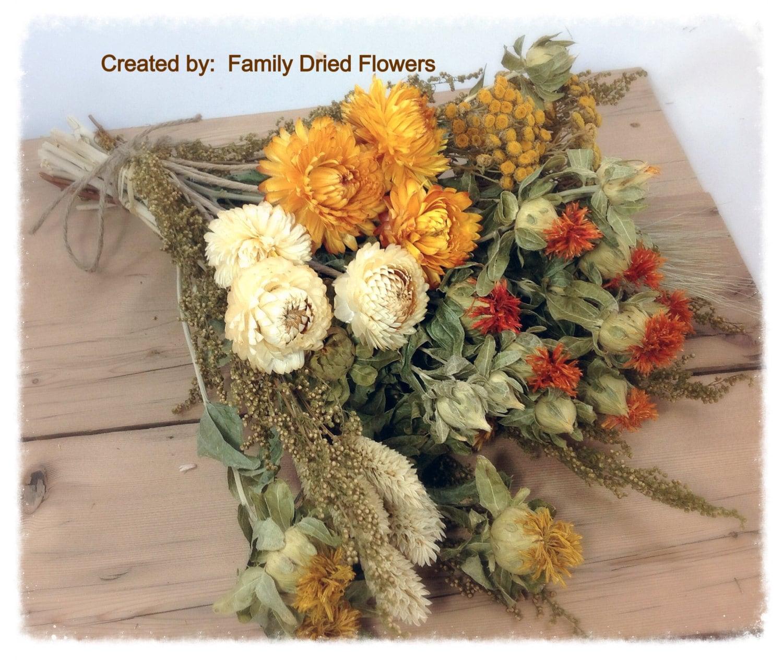 DIY Bundle of Coordinating Dried Flowers Prairie Sunset