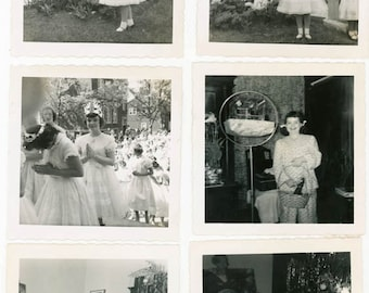 Vintage Snapshot 1958 Betty First Communion Xmas Black and White Color Her Life 17 photo lot