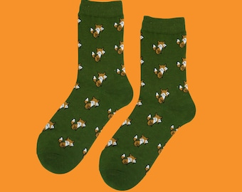 Fox face socks FREE SHIPPING