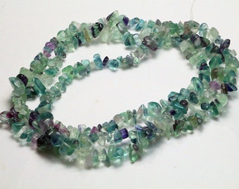 "Natural raw fluorite crystal beads,raw gemstone beads,healing stone beads,33.5"" full strand"