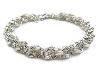 25th Anniversary Silver Bracelet, Anniversary Gift for Wife, Silver Anniversary, Wedding Anniversary, 25 Anniversary, Sterling Silver