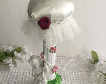 Angel pedestal, Pin Cushion / cottage chic pedestal Pin cushion