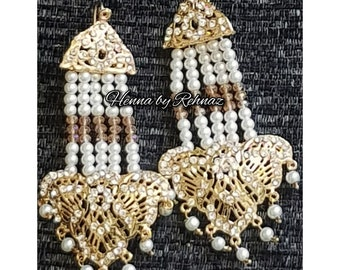 Indian  jewellery,costume jewellery,Mehndi jewelry,Dulhan set,Bridal jewelry,Pakistani jewelry,Afghan jewellery, Earrings,gold earrings
