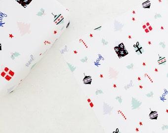 Gift Wrap Sheets - Holiday Icon Print - Holiday / Everyday - Set of 3 Sheets