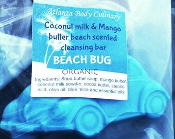 Beach Bug coconut milk & mango butter beach scented bar soap moisturizing organic beach soap