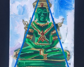 Jade Meditation Buddha