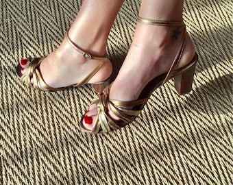 Bronze and Golden - Sandals Made in Brazil - size 39
