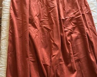 Handmade suede skirt