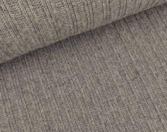 Rib knit fabric Victoria light grey (€ 34.50 per meter)
