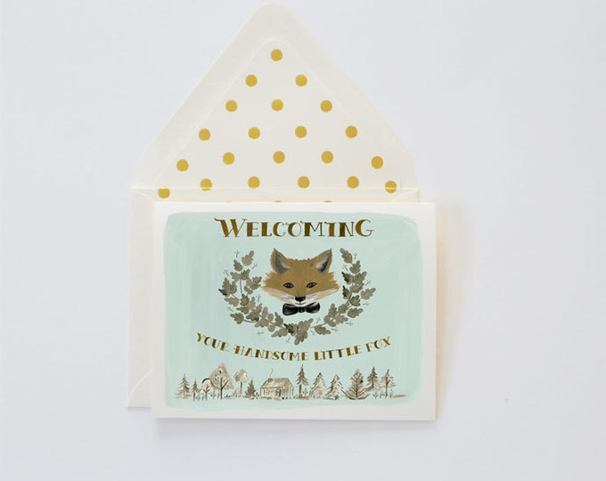 Welcome Handsome Fox card