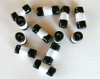 "Kazuri ""Bamboo"" Beads - Two (2)"