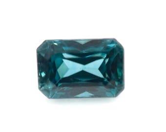 Natural Blue Zircon Gemstone Faceted Blue Zircon Loose Stone December Birthstone Genuine  Cambodia Blue Zircon 6x4mm Cushion