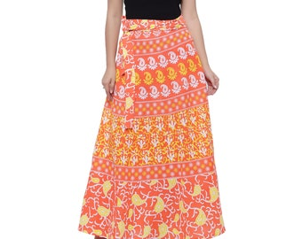 Soundarya Cotton Printed Open Waist Wrap Skirt