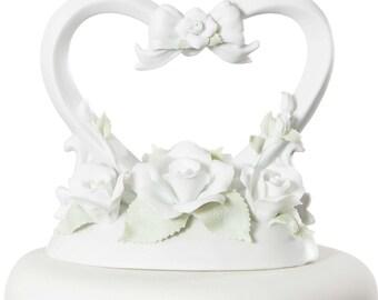 Rose Heart Cake Topper - 707538
