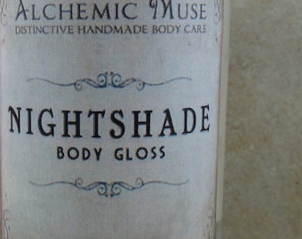 Nightshade - Body Gloss  - Bulgarian Lavender, Madagascar Vanilla, Chocolate