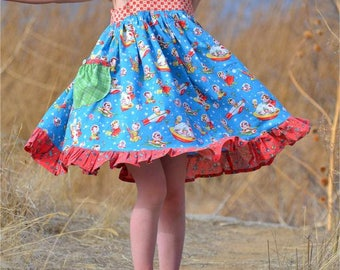 Summer Dress Pattern for Girls - Lemon Drop Dress and Tunic Top Sundress Pattern for Girls - PDF Sewing Pattern - Summer Sun Dress Pattern