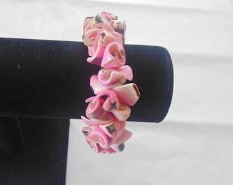 Vintage Pink Sea Shell Bracelet