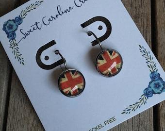 Union Jack dangle earrings
