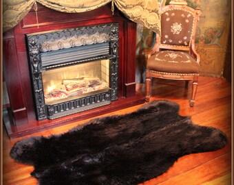 Plush Faux Fur Area Rug - Luxury Fur Soft Shaggy Bear Skin - Pelt - Sheepskin - Designer Throw Rug - Fur Accents USA