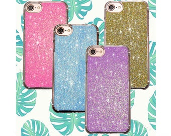 Real glitter phone cases for iPhone 5/6/7/8/X/Plus and Samsung 8/8+