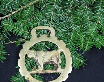 Vintage or Antique Cow Horse Brass - Hathor - Folk Magic, British, Pagan, Wicca, Witchcraft