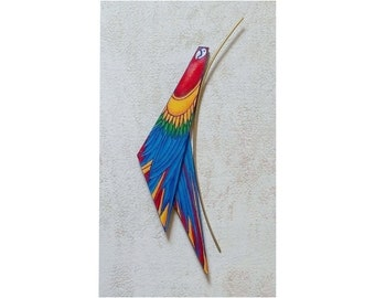 Macaw, exotic flora and fauna handicrafts for home decor or a special gift