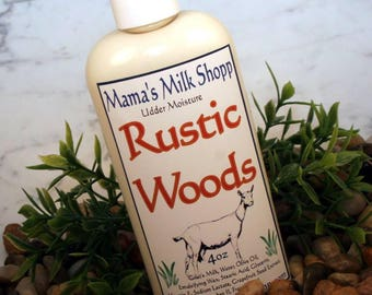 Rustic Woods - Goats Milk Lotion - Luxury Body Lotion - Scented Lotion - Farm Fresh - Hand Lotion - Goat Lotion - Body Lotion - Wisconsin