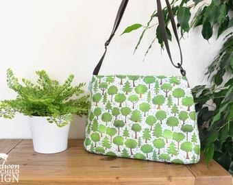Trees Handbag, Cross Body Bag, Shoulder Bag, Woodland Bag, Nature Print
