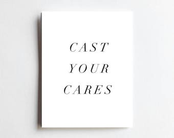 Cast Your Cares - ART PRINT - Free Shipping!