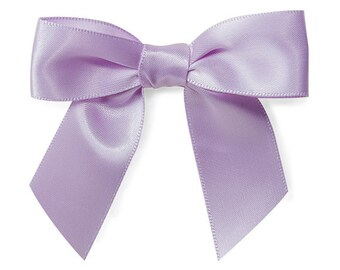 Lavender  Pre-Tied Satin Gift Bows , 10 Bows with twist ties.