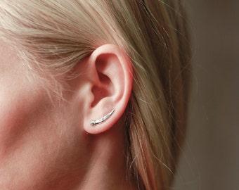Spike Climbers | Silver Earrings