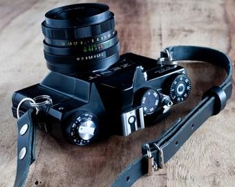 Adjustable Leather Camera Strap, Nikon camera strap, Canon camera strap, vintage camera strap, retro camera strap, Leica strap, dslr camera