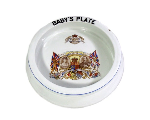 English Royal Commemorative Baby's Plate by Shelley