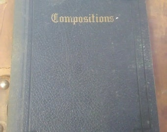 1920s history composition notebook