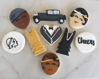 1 Dozen 20s Great Gatsby Themed Cookies