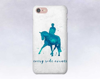 Horse Phone Case, iPhone 7 case, Dressage Horse, Samsung S7, iPhone 6, Samsung S6, iPhone 7 Plus, Gift for Horse Lover, Blue Teal, Half Pass