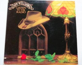 """Don Williams - Radio - """"nicht aufhören zu lieben mich jetzt"""" - Land - MCA Records 1982 - Vintage Vinyl LP Schallplatte Album anhören"""