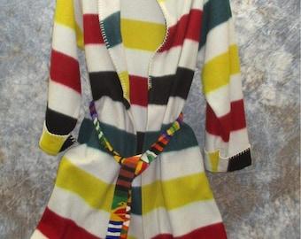 Womens Small Bathrobe Sleepwear Spa Hudson's Bay Point Blanket Pattern Vintage