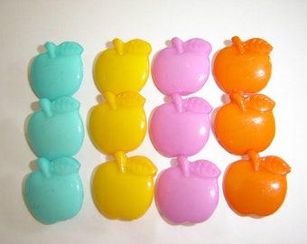 35 buttons Apple leaf 12 colors