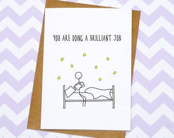 New Mum Card - Card For Mums - Mother's Day Card - You Are Doing A Brilliant Job