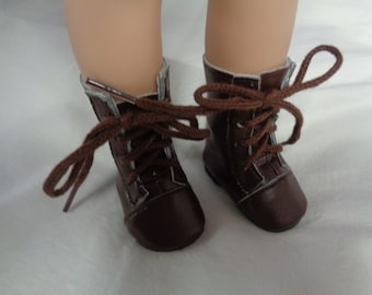 Brown  Doll  Boots for 14 Inch Dolls- Fits Wellie Wishers -Les Cheries and Hearts 4 Hearts Dolls