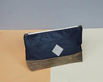 cork leather clutch, cosmetic bag plum, vegan bag, bag black, cork, black, make up bag, clutch for men, plum bag