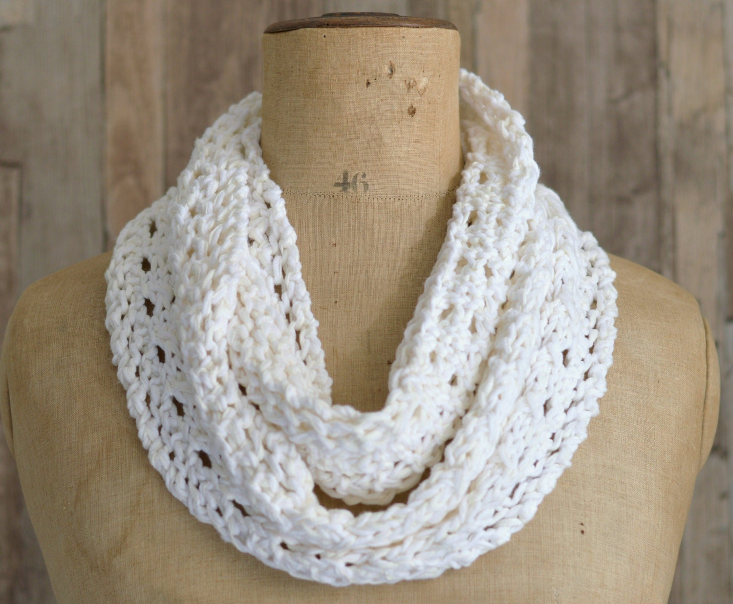 Knitting Scarf Patterns Infinity Scarf : Knitting pattern lace scarf simple knit infinity