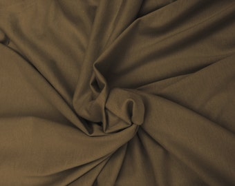 Organic Cotton Fabric Jersey Knit Eco-Friendly By The Yard BARK (Brown) 5/15