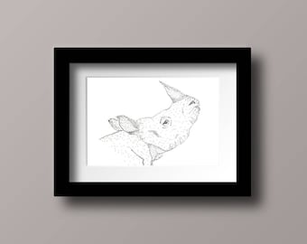 Pen & Ink Rhino