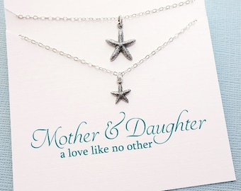 Gifts for Mom | Mommy and Me Jewelry Set, Mother Daughter Gift, Starfish Necklace Gift Set, Mom Gift, Daugther Gift, Gift for Daughter |MD04
