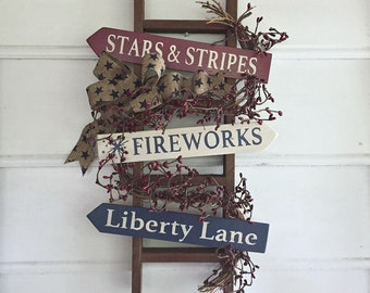 Americana Rustic Home Decor Stars And Stripes Country