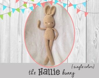the HALLIE bunny {single color}  | Crochet Pattern