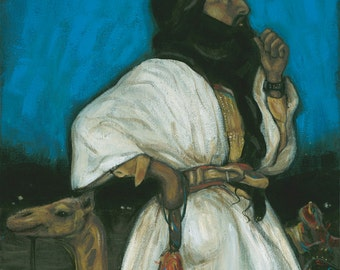 Visions of Africa:  Tuareg Tribesman by Carrie Martinez // Surrealism, Mysticism, Tarot and Visionary Art